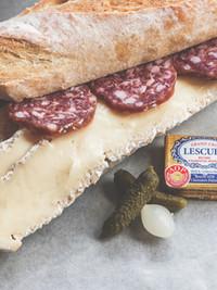 Saucisson and Brie Sandwich