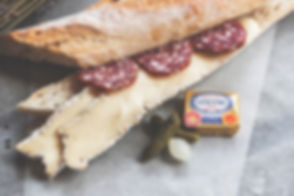 Cheese and Salami Sandwich