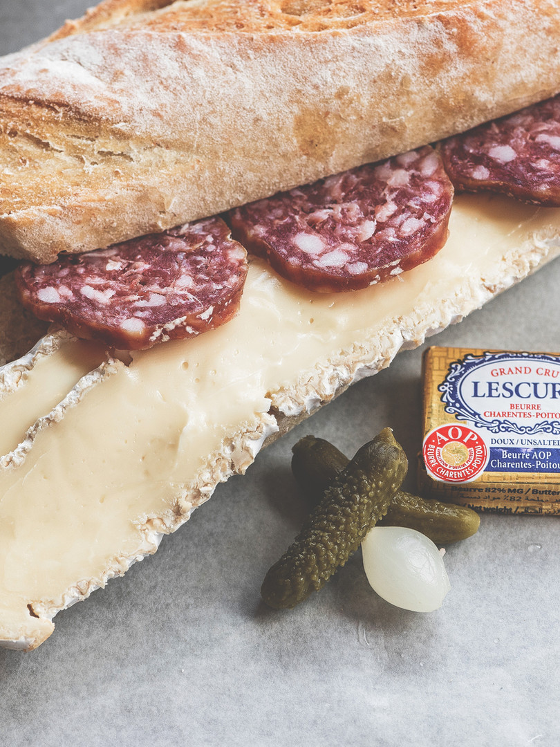 Saucisson and Brie Sandwich