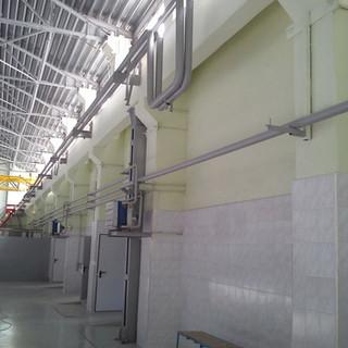 Готовая боковая стена с коммуникациями