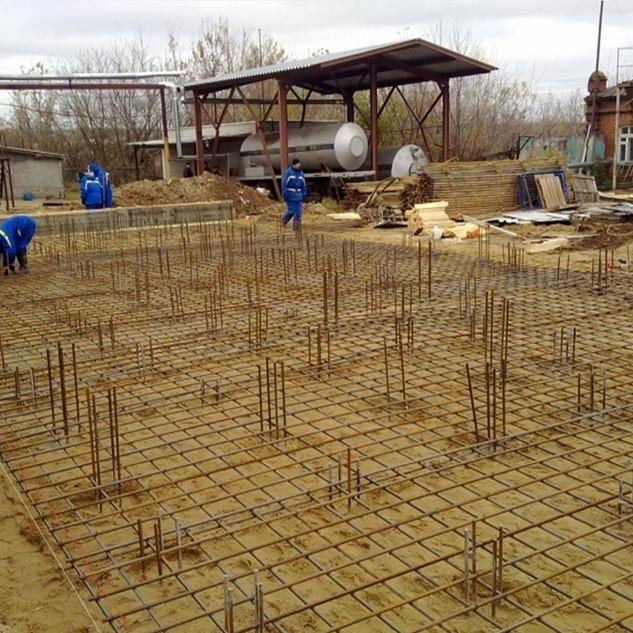 Армирование бетонного пола на Лысковском пивзаводе