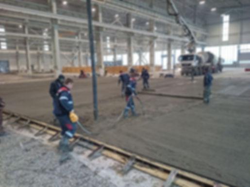 Устройство бетонного пола складского коплекса