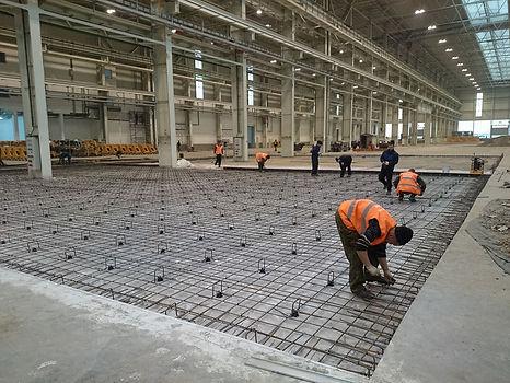 Армирование бетонного пола перед заливкой. Бетонная стяжка. СК Партнер, Нижний Новгород