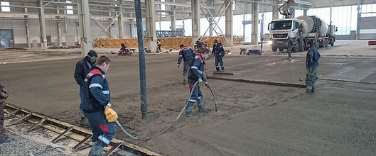 Заливка бетона для устройства промышленного пола компание СК Партнер