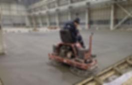 Работа на двухроторной бетоноотделочной машине