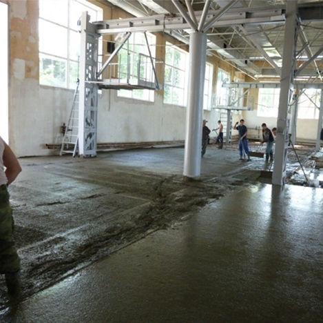 Заливка бетона на пол, завод Промавто
