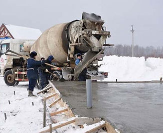 Подача бетона зимой