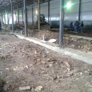 Демонтаж старого пола на Лысковском пивзаводе