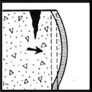 Трещины в бетоне образующиеся в результате деформации форм