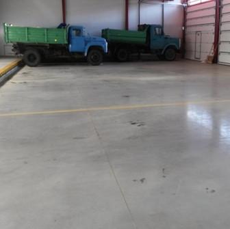 Работы завершены, - армированный бетонный пол, готов.