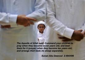 SMACK CHILDREN TO MAKE THEM PRAY