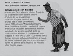 Patch Adams 1°volta a Verona