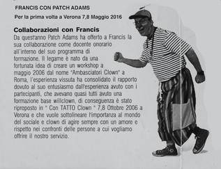 Patch Adams 1°volta a Verona
