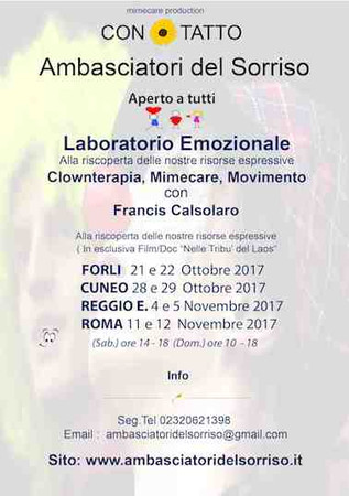 Ambasciatori del Sorriso ( aperto a tutti )  ROMA - CUNEO - REGGIO E., FORLI