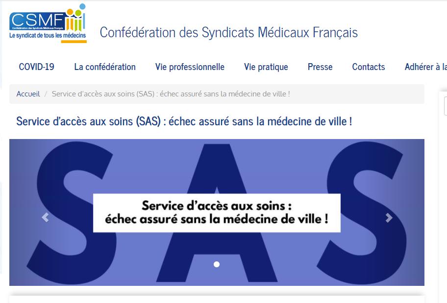 Alturgences : La CSMF appelle le gouvernement à revoir sa copie pour le SAS