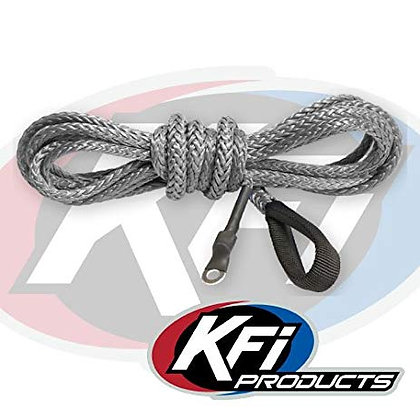 KFI Synthetic Winch Plow Cable Smoke 12'