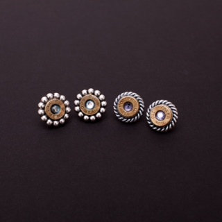 Nosler .223 Post Earrings with Swarovski Crystals
