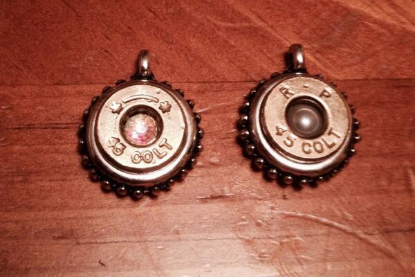 Colt 45 Necklace Charm