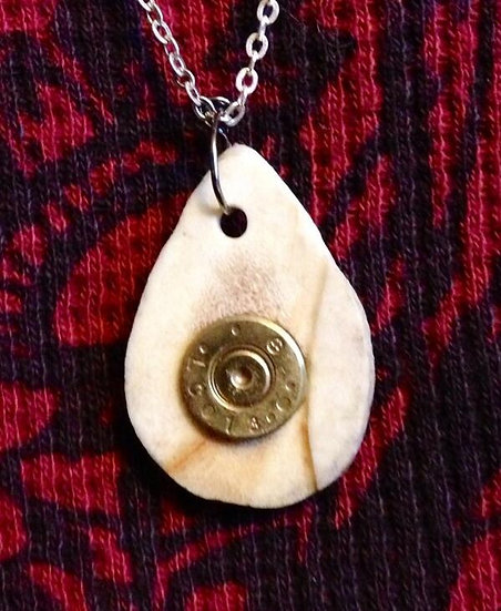 Antler and Bullet Charm for Necklace