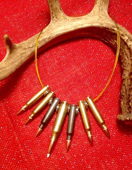 7 bullet Statement necklace