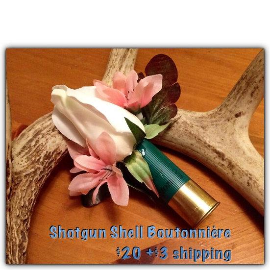 Silk Boutonniere in shotgun shell