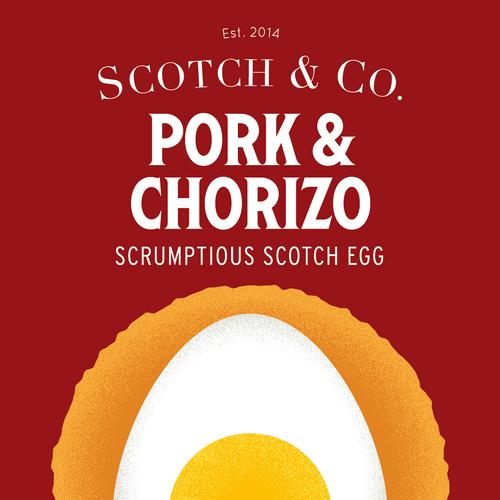 Pork and Chorizo scotch egg