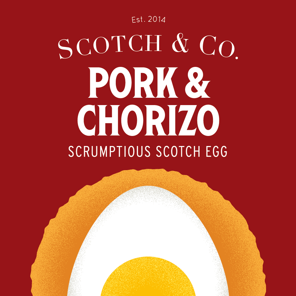 Pork and Chorizo scotch egg