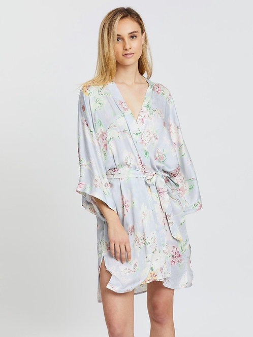 Gingerlilly Alessia Grey Floral Robe