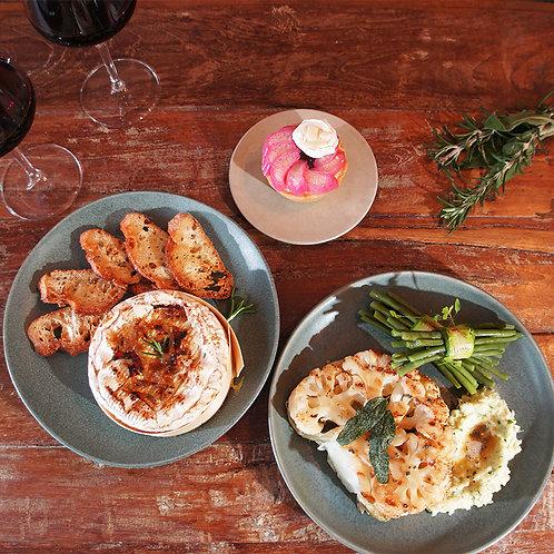March vegetarian set menu @ home