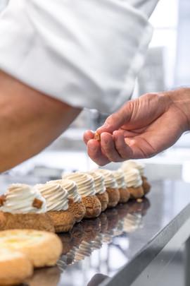 Mise en place des choux vanille