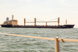 Freighter in the shipping channel
