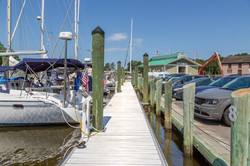 View along the dock