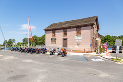 Bikes outside Mallards restaurant