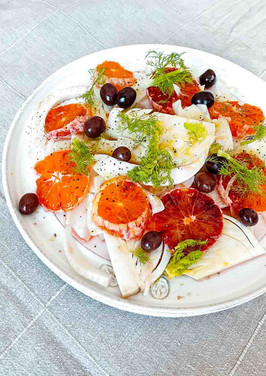 Blutorangen - Fenchel Salat