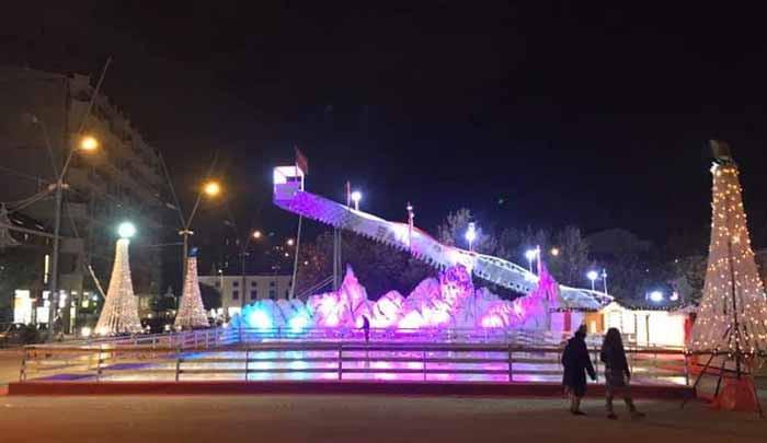 Piazza Gramsci per il Natale 2019 la Pista di Pattinaggio su Ghiaccio