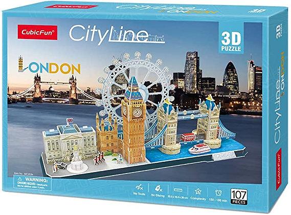 CubicFun Cityline - London Puzzle 3D (Gutenberg Edicola)