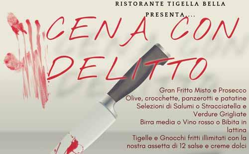 cena con delitto ristorante Tigella Bella Cinisello