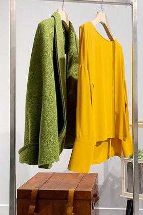 Giacca in lana cotta verde GIOTTA (Maidiremai)