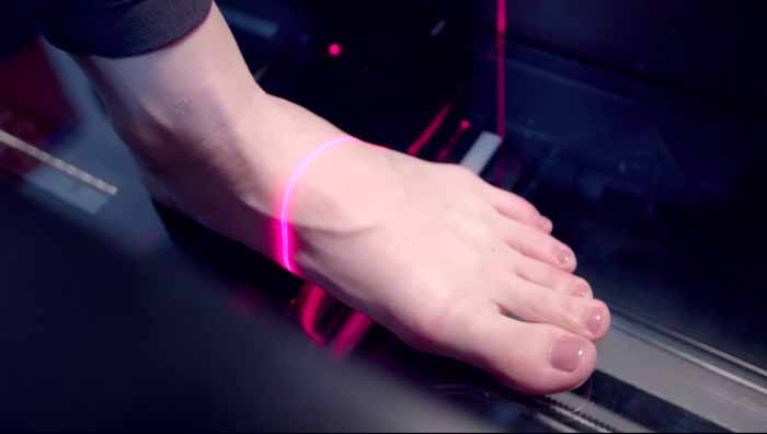 plantare sportivo scansione laser 3d