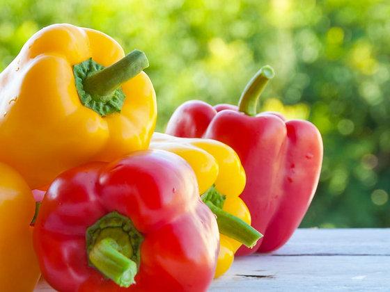 Peperoni gialli e rossi (Il Melograno Frutta e Verdura)