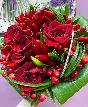 Bouquet compatto di rose (La Casa del Fiore)