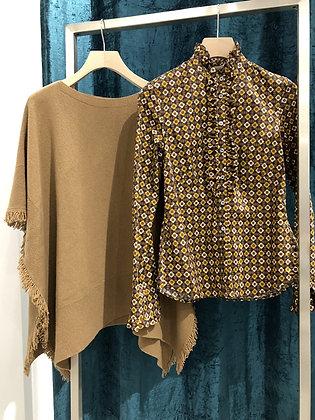 Camicia CALIBAN In fantasia e Poncho lana-cashmire (Maidiremai)