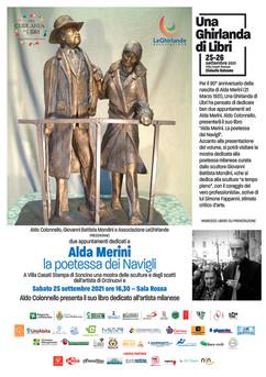 Dedicato ad Alda Merini: presentazione del libro di Aldo Colonnello e mostra dell'artista Mondini