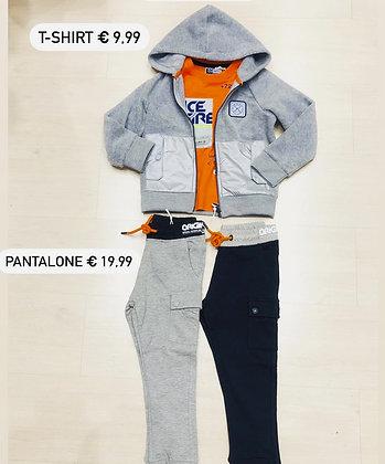 T-shirt, Felpa zip in pole e Pantaloni felpati  (Original Marines Cinisello)