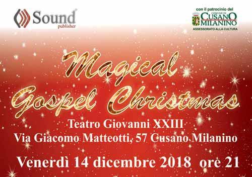 Concerto di Natale Magical Gospel Christmas Cusano Milanino
