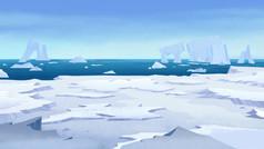 Icebergs, Antartica