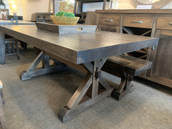 X Trestle table