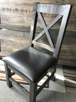 Chunky x back W/ upholstered seat