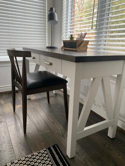 V frame desk two drawer