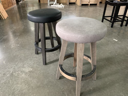 Round stools W/ Upholstered seats